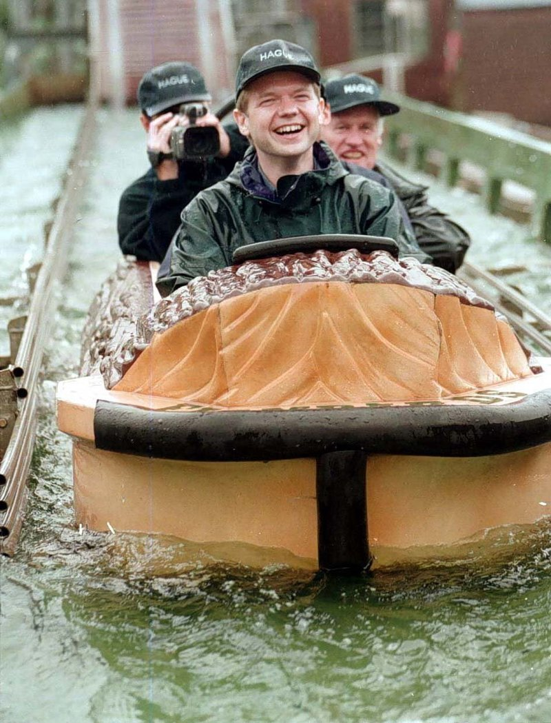 William Hague wearing his trademark flat cap