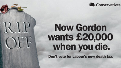tory death tax poster